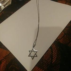 Jewelry - New unisex star of David Jewish star necklace